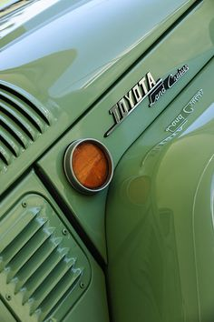 1969 Toyota Fj-40 Land Cruiser Side Emblem by Jill Reger #cars