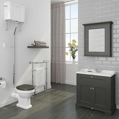 Downton Abbey Traditional Vanity Unit 800mm Wide Charcoal Vanity Units Vanities And