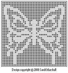Chart for Manto Butterfly in a Filet Design #freefiletcrochet