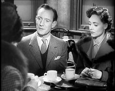 """""""Brief Encounter"""" with Celia Johnson and Trevor Howard Old Movies, Vintage Movies, Trailers, Trevor Howard, David Lean, Elizabeth Johnson, Brief Encounter, Music Composers, Hollywood Actor"""