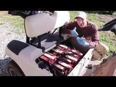 we are going to discuss why we are calling them our best golf cart batteries and chargers. We will reveal those batteries and chargers' features, pros and Best Golf Cart, Golf Carts, Boat Battery, Golf Trainers, Golf Cart Batteries, New Golf, Perfect Golf, Play Golf