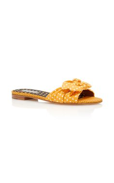 Cleo Polka-Dot Silk and Cotton-Blend Sandals by TABITHA SIMMONS Now Available on Moda Operandi