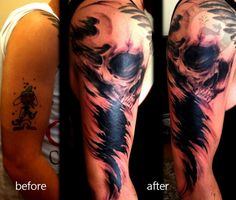 cover-up with skull