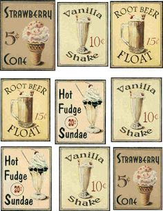 VickiesVintage : TOP THIS SUNDAE SUNDAY & REMEMBER THE SODA FOUNTAINS?--printable