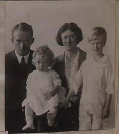 *DICKINSON BISHOP and FAMILY, 1921. Survivor of the Titanic disaster.