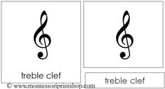 Musical Note and Symbol Cards: 3-Part Cards for 12 simple Musical Notes and Symbols.