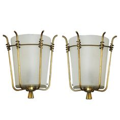Marius-Ernest Sabino Pair of Sconces | From a unique collection of antique and modern wall lights and sconces at https://www.1stdibs.com/furniture/lighting/sconces-wall-lights/
