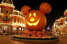 Disneyland during halloween