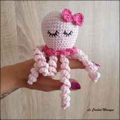 Crochet Octopus, Crochet Art, Crochet Snowman, Amigurumi Toys, Handmade Art, Hello Kitty, Knitting, Inspiration, Decoration