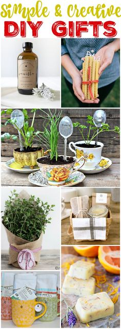 Scroll down for the herbs-in-teacup idea.  Pretty neat!