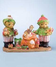 Love this Cherished Teddies Bear Elves Figurine by Cherished Teddies on #zulily! #zulilyfinds