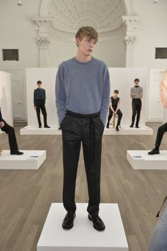 FashionTV is at the John Smedley Spring/Summer 2016 presentation during London Collections: Men.