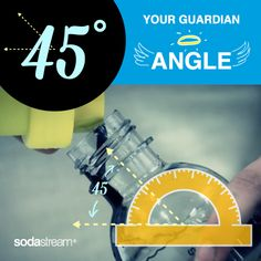 When making soda, be sure to pour your sodamix at a 45 degree angle to avoid spills or overflowing fizz!