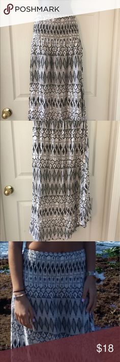 Summer skirt longer back shorter front Pretty summer comfortable skirt that you could dress it up or down. Kirra Skirts Maxi