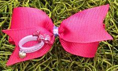 Pink bow Dog bow dog hair bow dog bows dog collar by CreateAlley