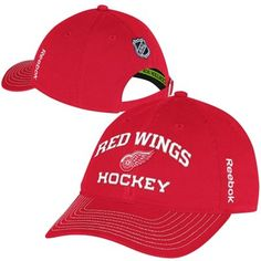 Reebok Detroit Red Wings Authentic Locker Room Slouch Adjustable Hat - Red 7ebc7b75052