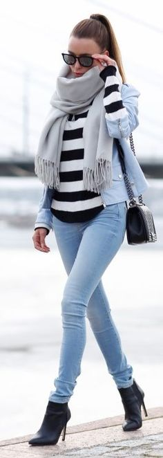 Lots Of Blue Winter Outfit