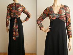 1970s Vintage Stacy Ames Black & Aztec Pattern by NicaChicaVintage, $85.00