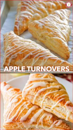 How to Make Easy Apple Turnovers with the best glaze! One of our favorite Apple recipes! This apple dessert always disappears fast and is so simple to make! #appleturnovers #appleturnover Mexican Food Recipes, Sweet Recipes, Cookie Recipes, Healthy Recipes, French Dessert Recipes, Simple Apple Recipes, Recipes Dinner, Fast And Easy Desserts, Simple Dessert Recipes