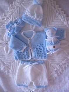 Diy Crafts - Crochet Baby Boy Yellow and Blue Sweater Set Layette With Leggings Perfect For Baby Shower Gift Take Home Outfit Baby Booties Knitting Pattern, Baby Boy Knitting Patterns, Baby Patterns, Crochet Pattern, Baby Boy Christening Outfit, Baptism Outfit, Baby Layette, Knit Baby Sweaters, Crochet Baby Clothes
