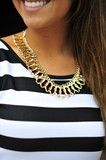 $29 Gold Leaf Chain Necklace: Gold