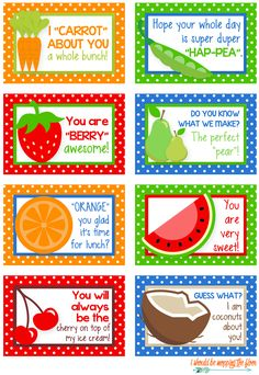 FREE Printable Lunch Box Notes - Yellow Bliss Road