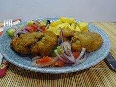 Rántott csirkemáj: nagyon finom, készítsd el. Churchill, Meat, Blue, Food, Essen, Meals, Yemek, Eten