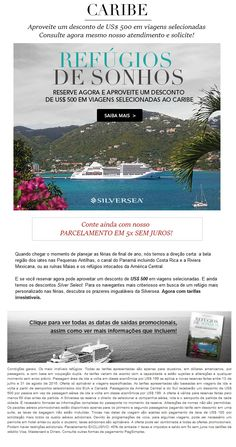 Caribe com a Silversea tem 500USD OFF
