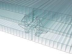 Continuous facade system POLYCARBONATE ARCOPLUS® DOUBLE CONNECTOR by dott.gallina