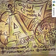 #Repost @al.parco with @repostapp.  29th #november #2015  #world #climatemarch to stop #globalwarming and #climatechange  #illustration by @vagabondharma  Road to #cop21 #cop21paris2015  #2gradiesto #marciaperilclima #environment #co2 #footprints #greenhouse #nature #forest #woods #weather #mothernature #wwf #greenpeace #nationalpark #landscape #naturelovers #wildlife #extinction #gaia #weather by greencrossitalia