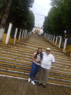 Escalinata del Templo de Ntra.  Sra.  Virgen de Guadalupe  San Cristóbal  de las Casas