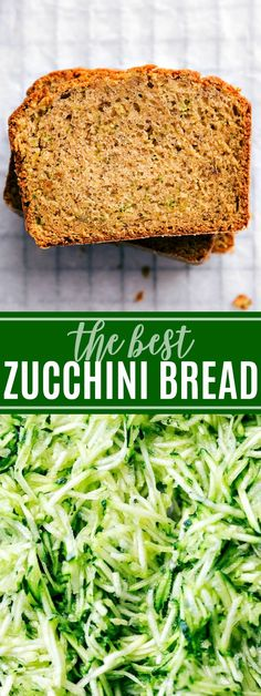 This zucchini bread was catered at my wedding and it was the FIRST treat to go with dozens of people asking for the recipe! Truly the best and so simple! Easy Zuchinni Bread, Best Zucchini Bread, Easy Zucchini Recipes, Vegetarian Recipes Easy, Cooking Recipes, Zucchini Banana, Vegan Egg Replacement, Candida Diet Recipes, True Food