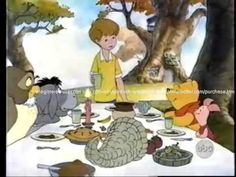 A Winnie the Pooh Thanksgiving Thanksgiving Videos, Thanksgiving Projects, Thanksgiving Preschool, Fall Preschool, Happy Thanksgiving, School Songs, School Videos, School Themes, Eeyore Pictures