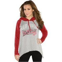 Touch by Alyssa Milano Detroit Red Wings Ladies Rebel Hoodie - Red/Ash