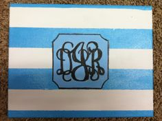 Striped Monogram Canvas