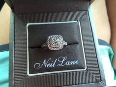 Engagement Rings My dream ring. -T Neil Lane Double Halo tw Diamond White Gold Princess Cut Engagement ring Princess Wedding Rings, Wedding Rings Solitaire, Princess Cut Rings, Princess Cut Engagement Rings, Bridal Rings, Wedding Bands, Neil Lane Engagement, Engagement Rings Sale, Cushion Cut Engagement Ring