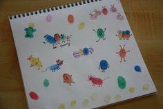finger print creatures