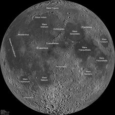 lunar crater map - Google Search