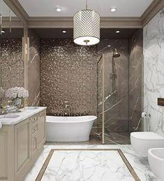 Best Bathroom Designs, Bathroom Design Luxury, Bathroom Trends, Dream Bathrooms, Amazing Bathrooms, Glamorous Bathroom, Classic Bathroom, Architecture Design, Decoration