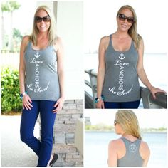 Alli Nicole Boutique - Love Anchors the Soul, $18.00 (http://www.allinicoleboutique.com/love-anchors-the-soul/) #anchor #tank #summer #fashion #love #anchors #thesoul #4th #july4th #summertime #clothing #outfit #july #navy #gray