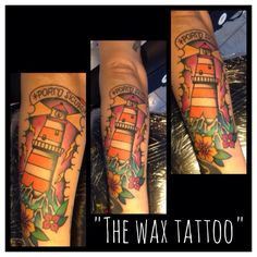 Traditional tattoo by sara for the wax tattoo studio