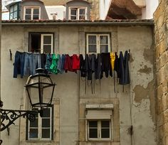 Laundry hanging our to dry in the Alfama District to Lisbon