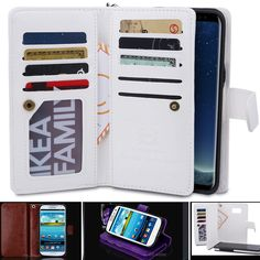 Huawei Mate 9 Case Magnet Zip Leather Flip Cover Coins Wallet All in One. It fits Huawei mate9. 2 in 1 Magnet Tough Case (phone back case wallet part). Material: Premium quality PU leather case. Inside phone case can be separated from the wallet case and can be used individually. | eBay! Leather Case, Pu Leather, Coin Wallet, All In One, Magnets, Coins, Phone Cases, Pocket, Zip