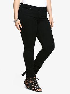 Torrid Skinny Jeans - Black Rinse (Shorter & Taller Lengths!), BLACK