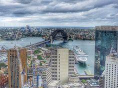 Aerial View of Sydney Harbor Bridge. O Bar, Sydney, Australia Sydney Australia, Australia Travel, Harbor Bridge, Aerial View, Things To Do, River, Bar, Dining, Pictures