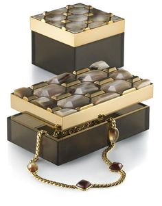 Luxe Italian Designer Gold Gilt & Polished Horn Diamond Jewelry Box, So Glamorous Inspiring Interior Design Fans With Unique Luxury Hollywood Home Decor & Gift Ideas From InStyle-Decor.com Beverly Hills Enjoy & Happy Pinning