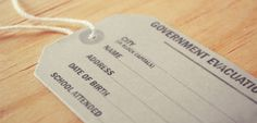 How to make an evacuee tag - includes download