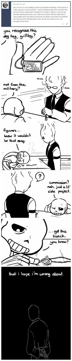 Sans, Grillby, and Gaster - comic - MobsterUT AU