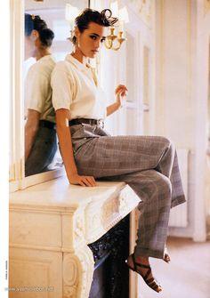 moda Yasmin Le Bon for Vogue Paris by Pamela Hanson, March 1988 80s And 90s Fashion, Retro Fashion, Vintage Fashion, Fashion Outfits, Fashion Trends, Emo Outfits, Punk Fashion, Lolita Fashion, Timeless Fashion