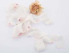 ranunculus print floral silk ribbon